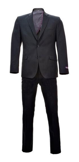 Traje Slim Fit Para Hombre Bruno Corza Color Negro