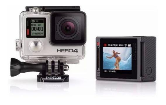 Câmera Digital Gopro Hero 4 Silver 4 K Full Hd + Acessórios