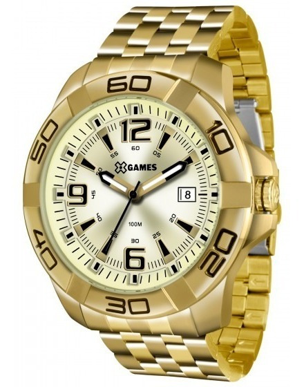 Relógio Xgames Xmgs1023 C2kx Masculino Dourado - Refinado