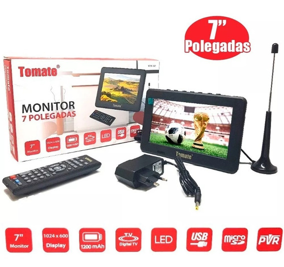 Tv Digital Monitor Portatil Hd 7 Poleg Antena Fotos Usb Fm