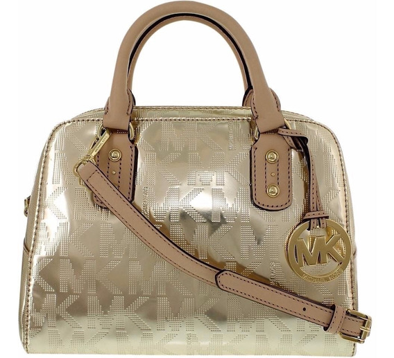 Michael Kors Metallic Mk Signature Small Bandolera Cartera