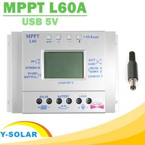 Controlador Carga Painel Solar Mppt 60a 12/24v