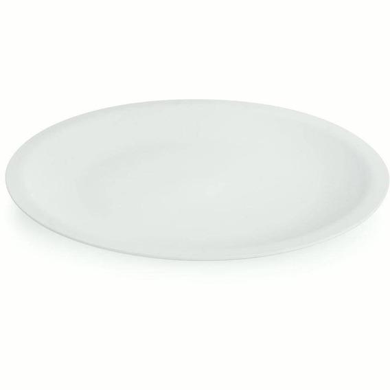 Prato Raso Branco De Polipropileno Redondo Cozinha - Ou