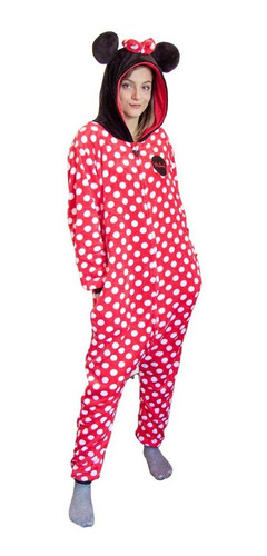 Pijama Macacão Pelúcia Kigurumi Minnie Mouse Disney Original