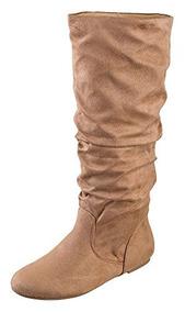 Botas De Mujer Sodena Zuluu Slouchy Faux Leather Faux De Alt