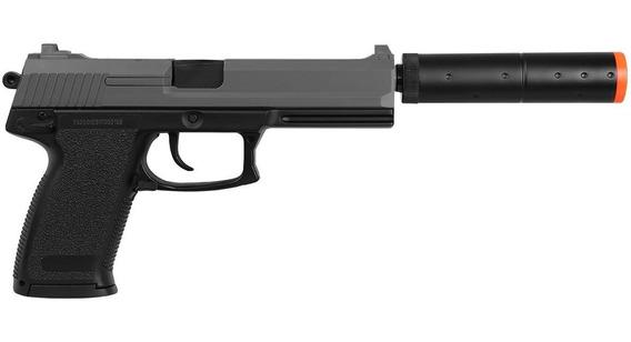 Airsoft Pistola Hk Usp M23 Silenciador