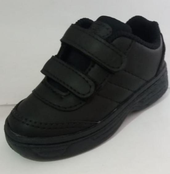 Tênis Escolar Infantil Velcro Preto