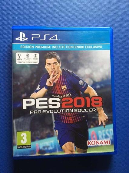 Juego Ps4 Pes 2018 Playstation Play 4 Futbol Pro Evolution