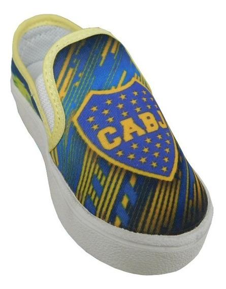 Panchas De Niño Boca Juniors, Talles Del 19 Al 26. Art 300.