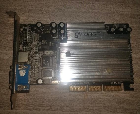 Placa De Video Agp Geforce 4 Mx 4000 64mb Antiga Computador