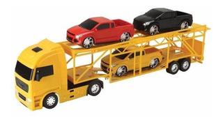 Caminhão Cegonha Cegonheira Com 4 Carrinhos Pick Up - Roma