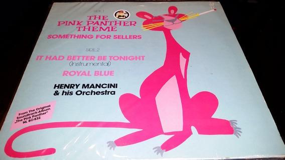 Pink Panther Theme Henry Mancini Vinilo Maxi Uk Clasico 1986
