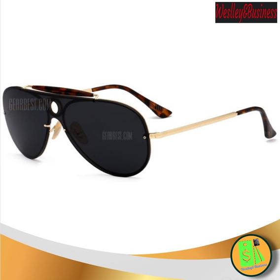 Óculos De Sol Unissex Lentes Polarizadas Tipo Escudo Oc18