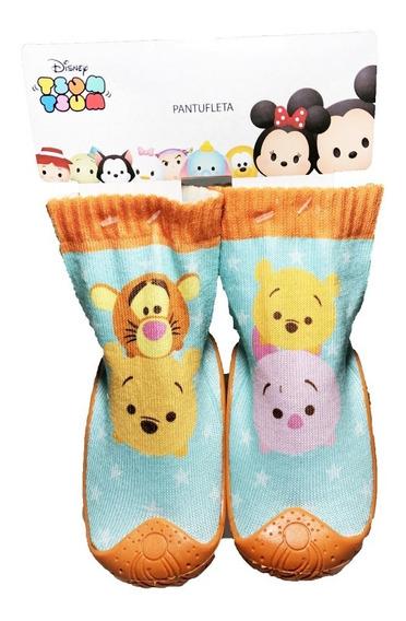 Calcetin Con Suela Para Niños Winnie Pooh Disney