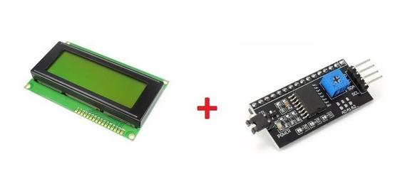 Tela Display Lcd 20x4 - Pic Arduino + I2c