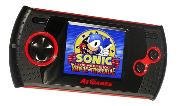Console AtGames Arcade Gamer Portable preto/vermelho