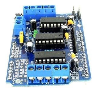Shield L293d Driver Ponte H Para Motor Arduino Mega E Uno