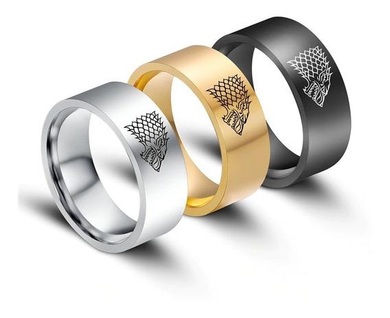 Anel Game Of Thrones Casa Stark Alto Brilho