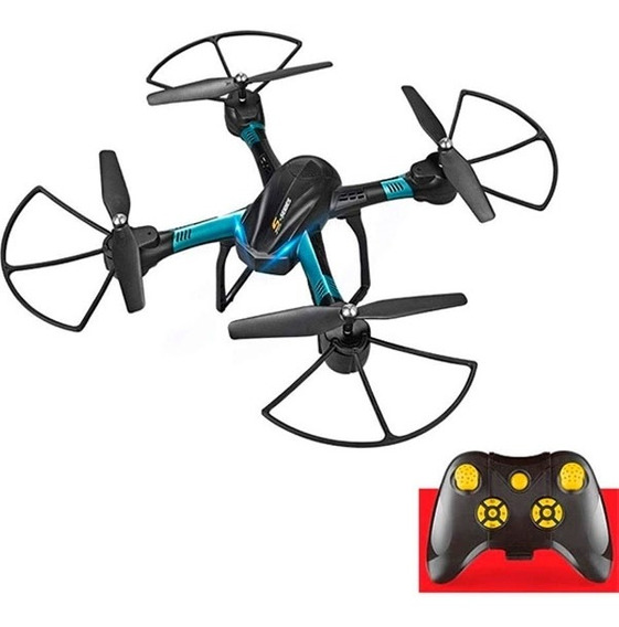 Drone Quadricoptero Estabilizador Voo Smart Preto Branco