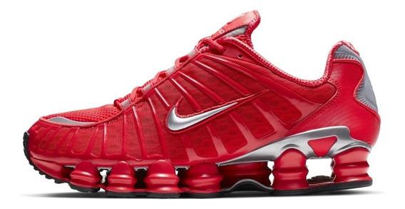 Tenis Masculino Nike Shox 12 Molas Tl Red Vermelho Original