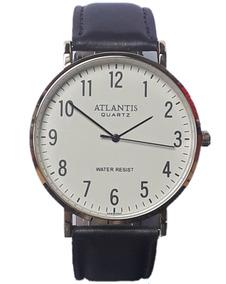 Relógio Masculino Original Atlantis Pulseira De Couro G3493e