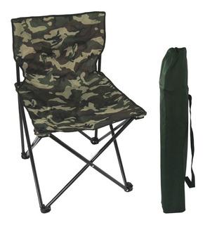 Cadeira Média Dobrável Articulada Pesca Camping Camuflada