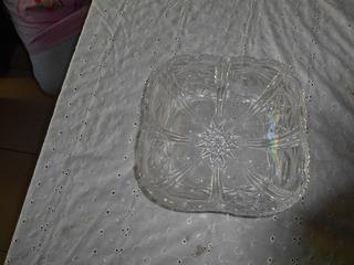 Centro De Mesa Cuadrado De Cristal Cortado