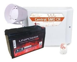 Central Choque Cerca Elétrica Gcp Smd Cr C/ Bateria E Sirene