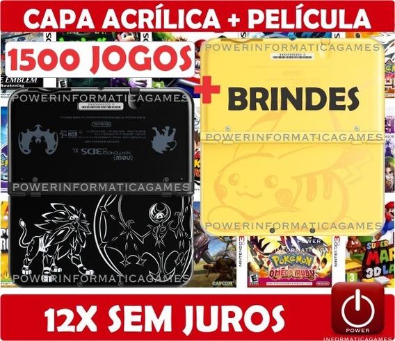 Nintendo New 3ds Xl + 3000 Jogos + 32gb + Capa + Película