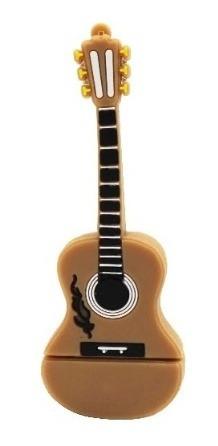 Pen Drive 4g Violão Guitarra Music Moonlight Marrom