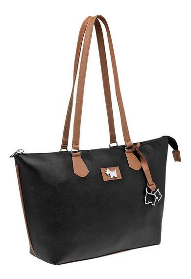 Bolsa De Mujer Negro Camel 091-696
