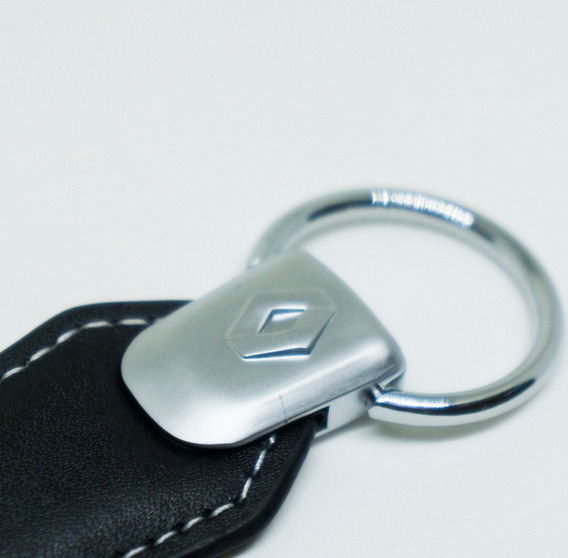 Chaveiro Renault Metal E Couro Sandero Duster Logan Clio