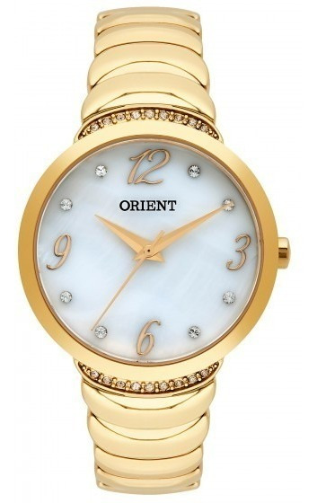 Relógio Orient Feminino Dourado C/ Pedras Fgss0094b2kx