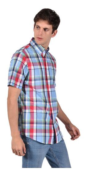 Camisa Classic Fit Chaps Azul 750689139-2z57 Hombre