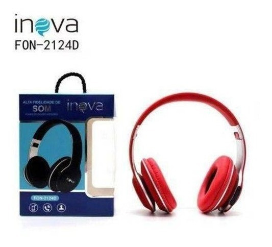Fone De Ouvido Inova Stéreo S/ Fio 2124d Bluetooth,headph