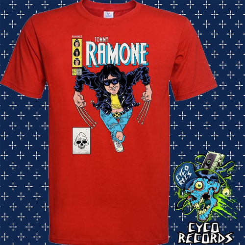 Imagen 1 de 3 de Tommy Ramone - Roja - Hardcore Punk / Rock - Polera- Cyco Re