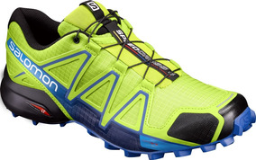 Zapatilla Masculina Salomon - Speedcross 4 M Amarillo/azul