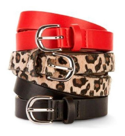 Cinto Mujer 100 % Cuero Pu Dama Cinturones - Varios Modelos