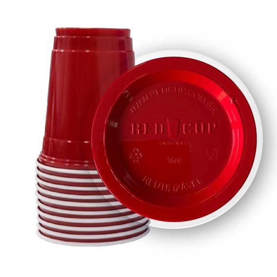 100 Red Cup Original Copo Vermelho Americano Importado 500ml