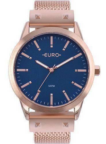 Relógio Euro Feminino Metal Glam Rosé Eu2035yom4a