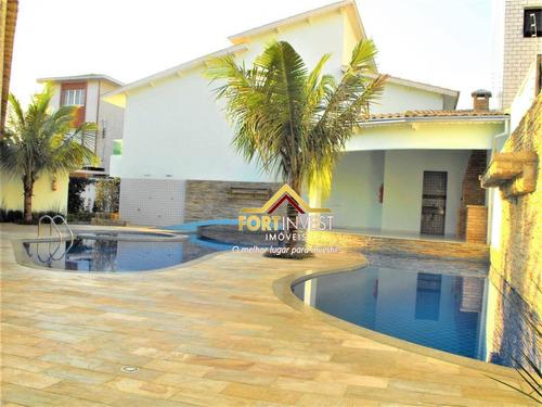 Casa Com 3 Dormitórios À Venda, 131 M² Por R$ 520.000,00 - Canto Do Forte - Praia Grande/sp - Ca0239