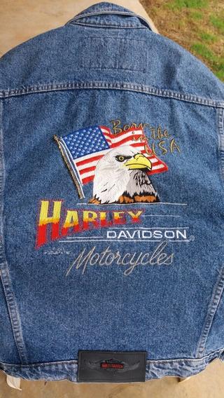Jaqueta Jeans Harley Davidson Americana