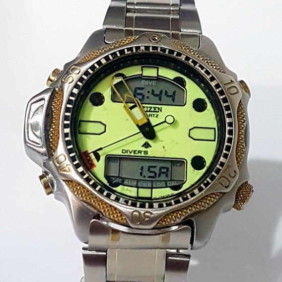 Relogio Citizen Aqualand Masculino C500 Antigo Do Vovo Bom