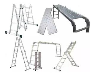 Escalera De Aluminio Plegable 4x4 C/ Plataforma