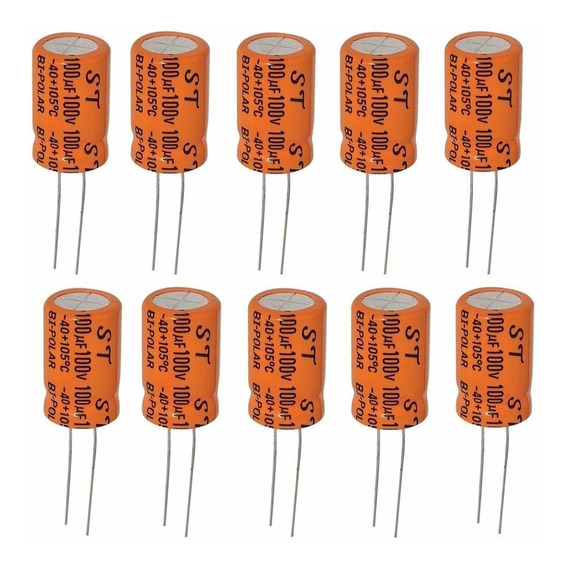 Capacitor Bipolar 100x100 Pct C/ 20 Peças