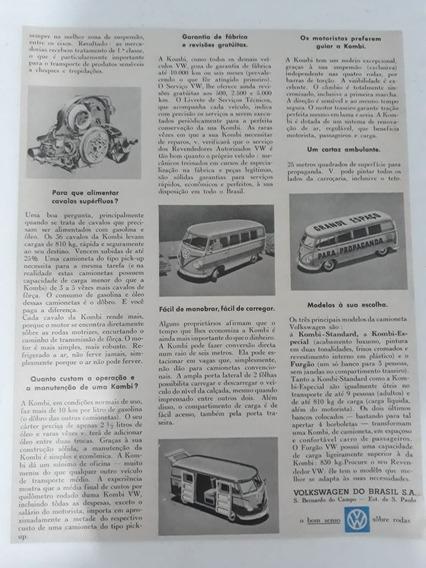 Propaganda Antiga Vw Kombi