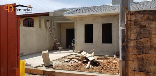 Casa À Venda, 48 M² Por R$ 185.000,00 - Nações - Fazenda Rio Grande/pr - Ca0196