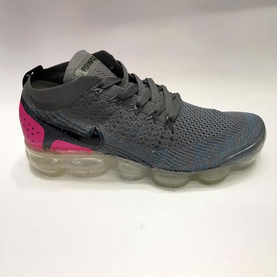 Nike Vapormax Flyknit 2 Feminino - Cinza