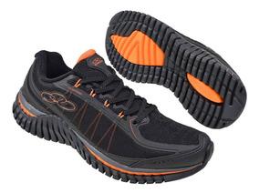 Tenis Olympikus Running Inspire 452 Preto/laranja Original