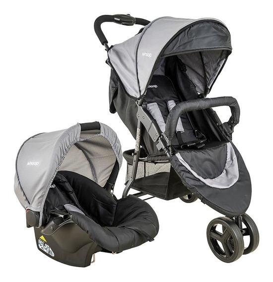 Carrinho De Bebê T System Lenox Whoop Trio + Cosycot Cinza